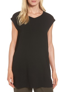 Eileen Fisher Silk Crepe Tunic (Regular & Petite)