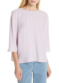 0112fc23 Eileen Fisher Eileen Fisher Tidewater Silk Top (Plus Size) | Casual ...