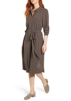 Eileen Fisher Silk Georgette Crepe Shirtdress