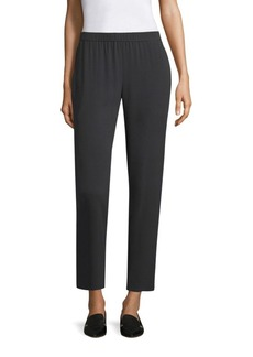 Eileen Fisher Silk Georgette Slouchy Ankle Pants