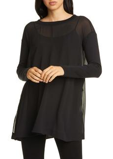 Eileen Fisher Silk Georgette Tunic Top