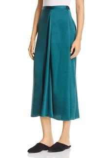 Eileen Fisher Silk Godet Midi Skirt