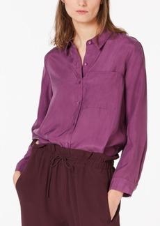 Eileen Fisher Silk High-Low Blouse