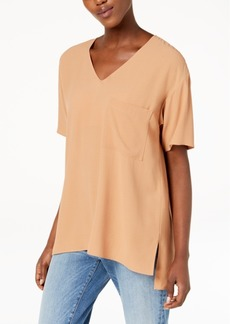 Eileen Fisher Silk High-Low T-Shirt