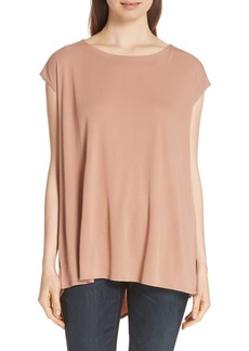 Eileen Fisher Silk Jersey Bateau Neck Top