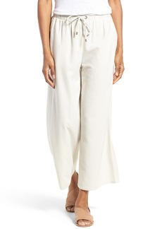 Eileen Fisher Silk Noil Wide Leg Pants (Regular & Petite)