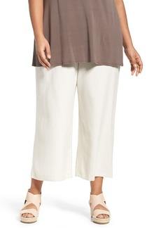 Eileen Fisher Silk Noil Wide Leg Pants (Plus Size)