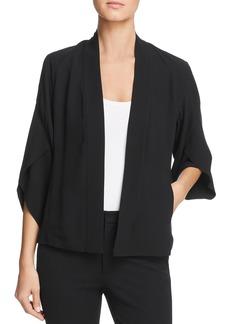 Eileen Fisher Silk Open Front Cropped Jacket