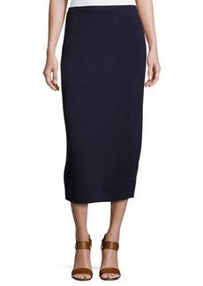 Eileen Fisher Silk Organic Cotton Midi Pencil Skirt