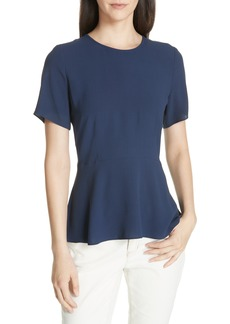 Eileen Fisher Silk Peplum Top (Regular & Petite)