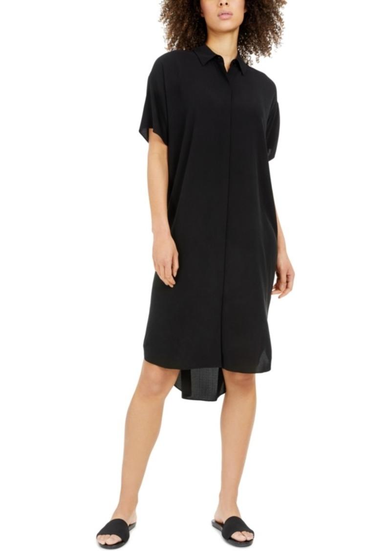 Eileen Fisher Silk Short-Sleeve Shirtdress, Regular & Petite