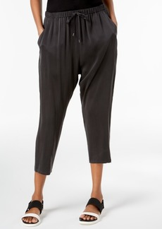 Eileen Fisher Silk Slouchy Drawstring-Waist Pants