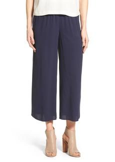 Eileen Fisher Silk Wide Leg Crop Pants (Regular & Petite)