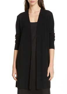 Eileen Fisher Simple Long Linen Blend Cardigan