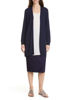 Eileen Fisher Simple Textured Cardigan (Regular & Petite)