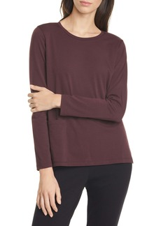 Eileen Fisher Single Pocket Slit Hem Top