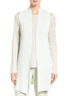 Eileen Fisher Sleek Ribbed Tencel® Vest (Regular & Petite)