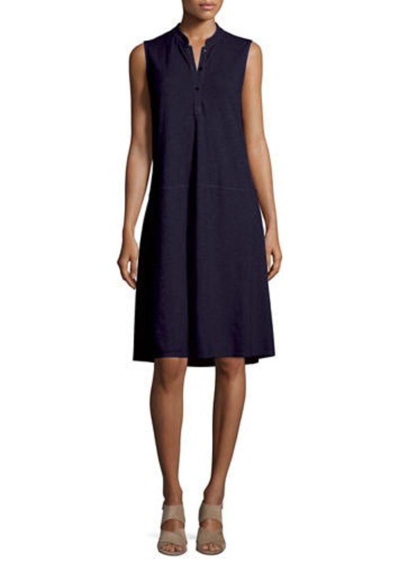 59823dc877be Eileen Fisher Eileen Fisher Sleeveless Button-Front Shirtdress