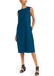 Eileen Fisher Sleeveless Crewneck Shift Dress