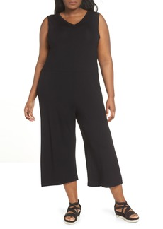 Eileen Fisher Sleeveless Crop Jumpsuit (Plus Size)