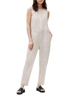 Eileen Fisher Sleeveless Crop Organic Linen Jumpsuit