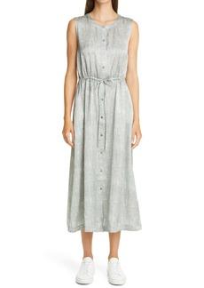 Eileen Fisher Sleeveless Midi Shirtdress