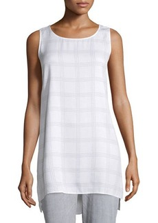 Eileen Fisher Sleeveless Plaid Silk Tunic