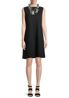 Eileen Fisher Sleeveless Ponte Shift Dress
