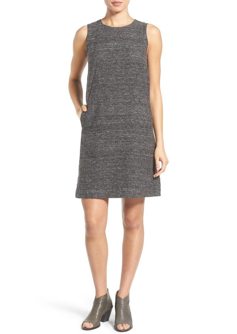 4e519126e01f30 Eileen Fisher Eileen Fisher Sleeveless Silk   Linen Shift Dress ...