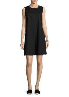 Eileen Fisher Sleeveless Stretch Poplin Shift Dress