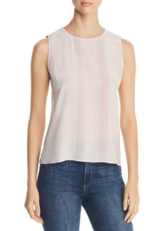 Eileen Fisher Sleeveless Striped Silk Top - 100% Exclusive