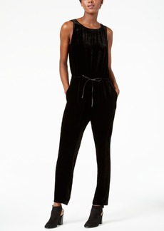 Eileen Fisher Sleeveless Velvet Jumpsuit, Regular & Petite