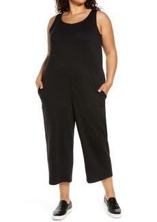 Eileen Fisher Sleeveless Wide Leg Jumpsuit (Plus Size)