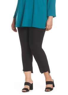 Eileen Fisher Slim Fit Crop Pants (Plus Size)