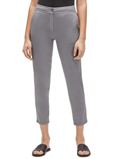 Eileen Fisher Slim High Waist Ankle Stretch Cotton Chino Pants