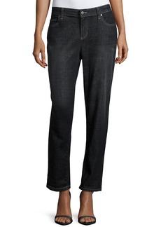 Eileen Fisher Slim-Leg Cropped Boyfriend Jeans