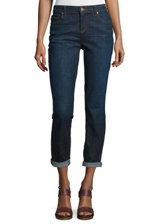 Eileen Fisher Slim-Leg Cropped Boyfriend Jeans