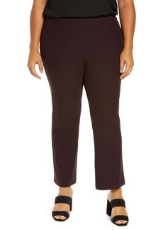 Eileen Fisher Slim Stretch Ankle Pants (Plus Size)
