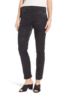 Eileen Fisher Slim Stretch Jacquard Trousers