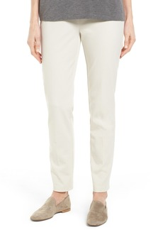 Eileen Fisher Slim Stretch Twill Pants (Regular & Petite)