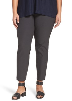 Eileen Fisher Slim Washable Stretch Crepe Ankle Pants (Plus Size)