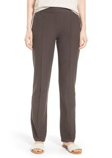 Eileen Fisher Slim Washable Stretch Crepe Bootcut Pants (Regular & Petite)