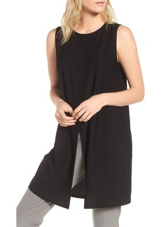 Eileen Fisher Slit Front Jersey Tunic