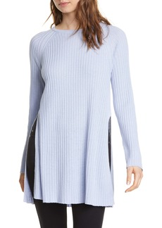 Eileen Fisher Slit Organic Linen & Cotton Tunic (Regular & Petite)