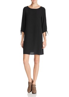 Eileen Fisher Slit-Sleeve Silk Dress
