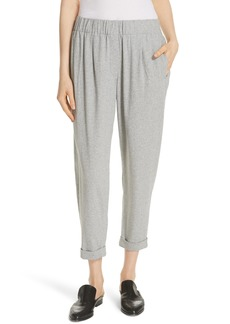 Eileen Fisher Slouchy Cotton Ankle Pants (Regular & Petite)