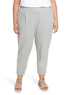 Eileen Fisher Slouchy Cotton Jersey Ankle Pants (Plus Size)