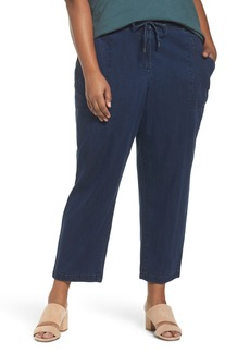 Eileen Fisher Slouchy Denim Ankle Pants (Plus Size)