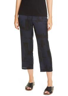 Eileen Fisher Slouchy Silk & Organic Cotton Crop Pants