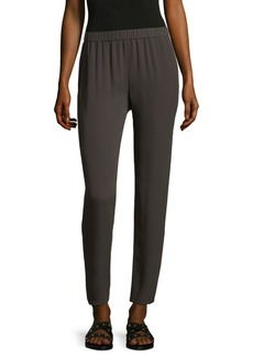 Eileen Fisher Slouchy Silk Ankle Pants
